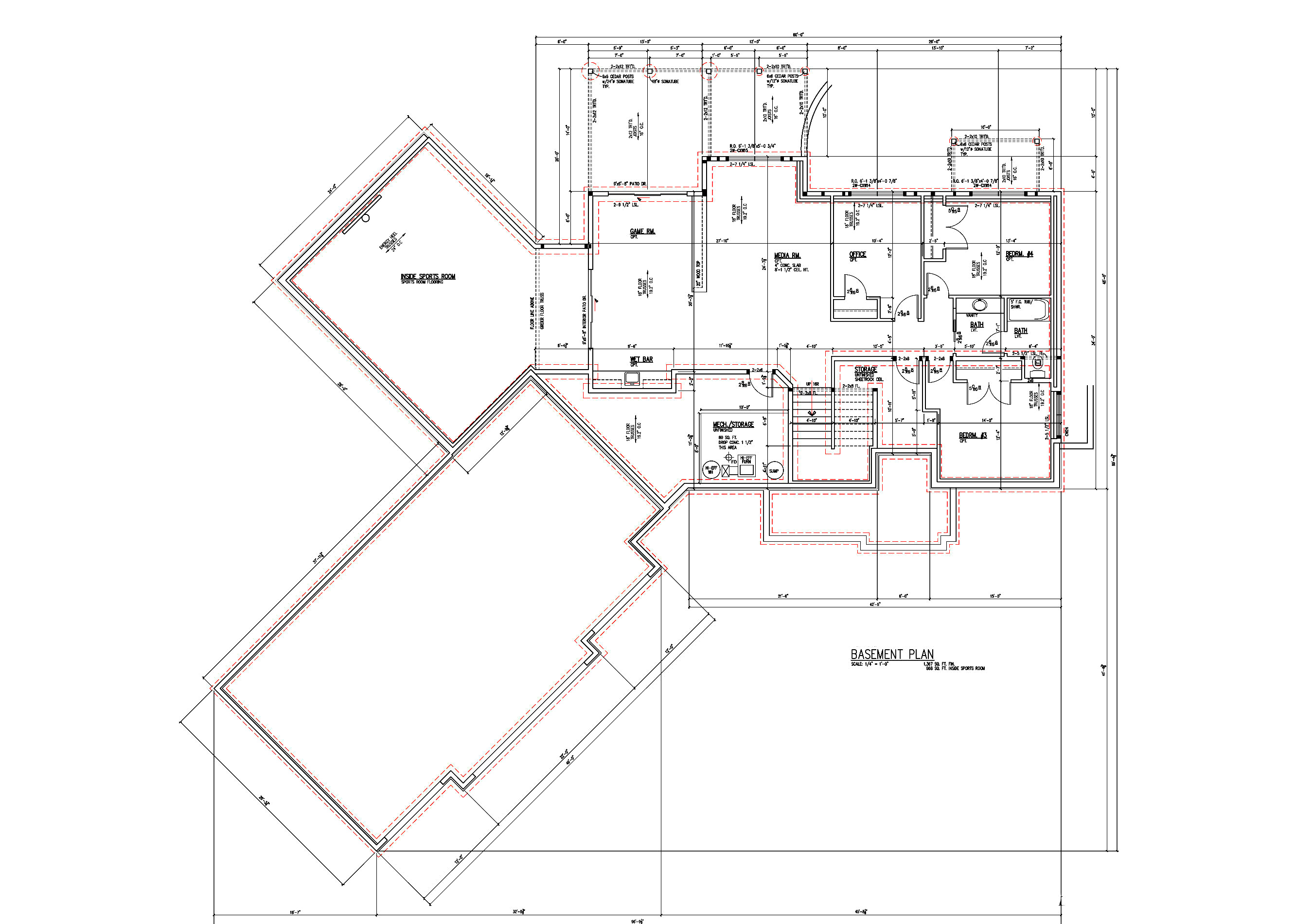 Walkout Lower Floor Plan