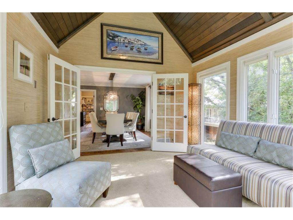 French Doors From Sunroom to Dining Room