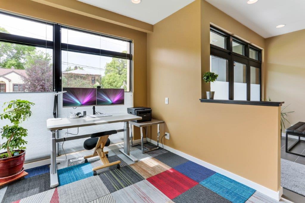 Minneapolis Modern Home Office with Windows