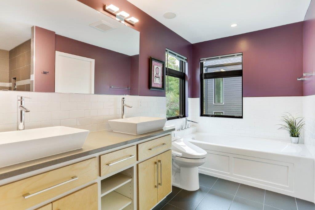 Minneapolis Modern Home Owner's Suite Bath