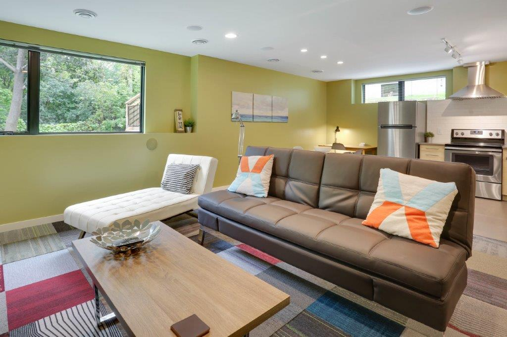 Minneapolis Modern Home Lower Level Rec Room