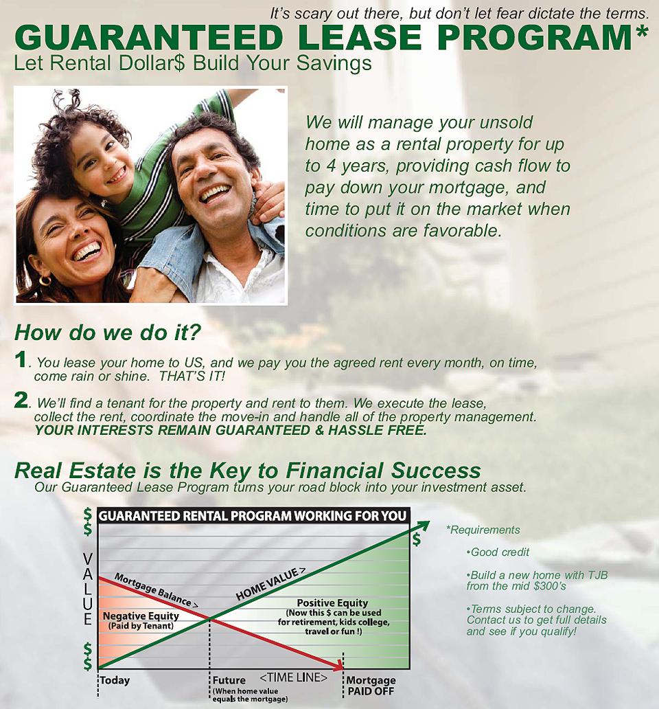 Guaranteed lease of your home