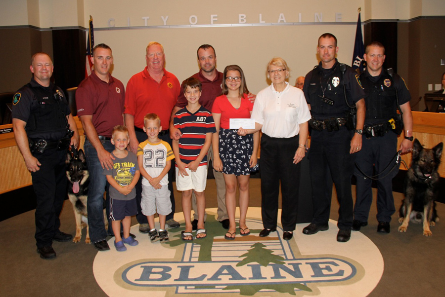 TJB Homes, donated $3,200 to Blaine Public Safety Association
