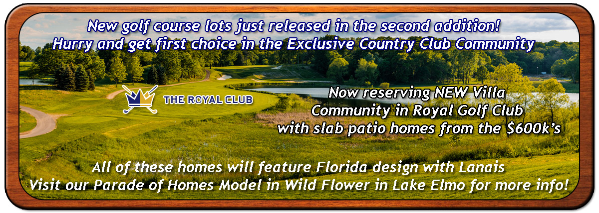 New Golf Course lots just released in the Second addition. Hurry and get first choice in this Exclusive Country Club Community. Also we are reserving a NEW Villa Community in Royal Golf Club with Slab Patio homes from the $600s.