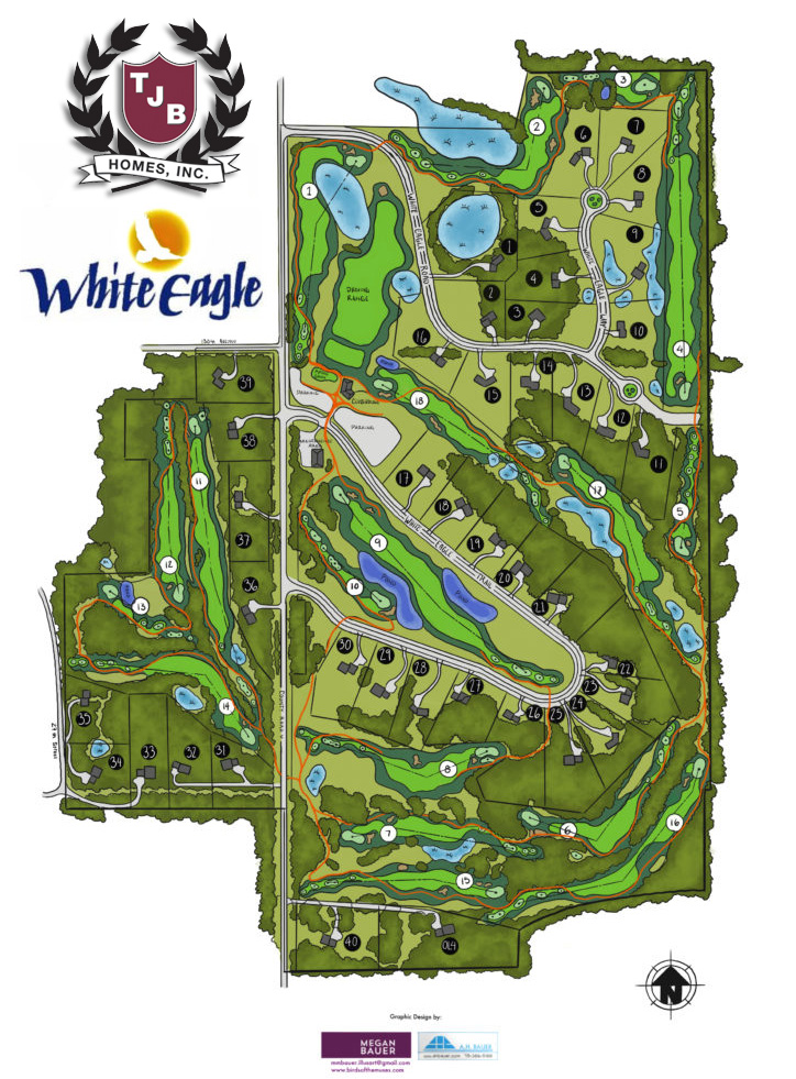 White Eagle Golf Club Course Map and Home Sites