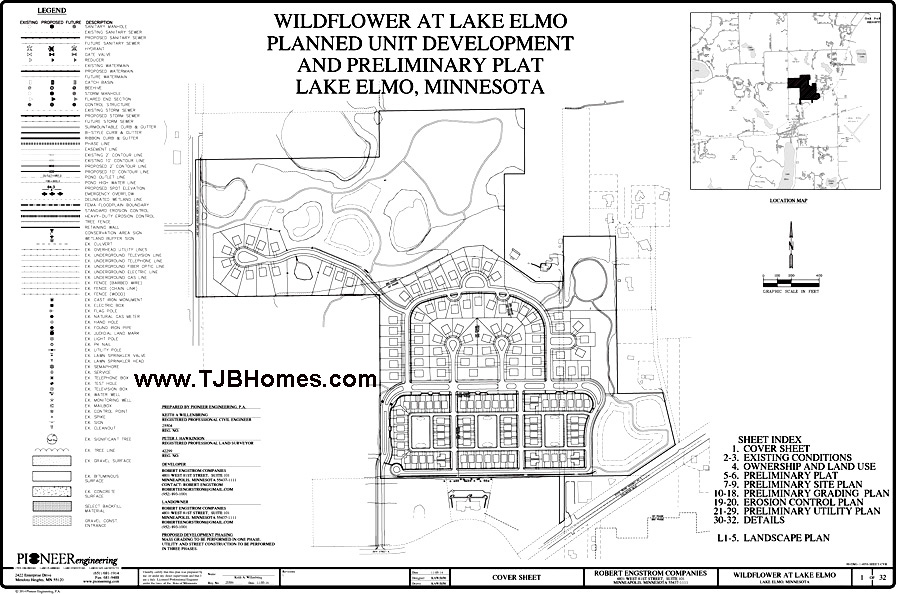 Wildflower, Lake Elmo, MN Prelimary Plat Plan