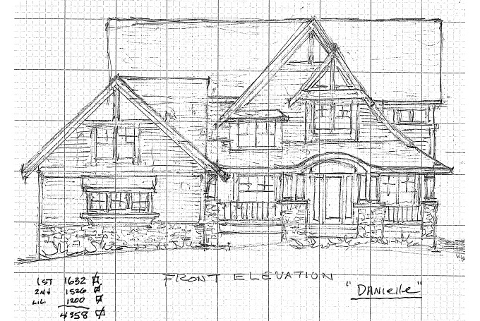 TJB Danielle Home Plan Front Elevation