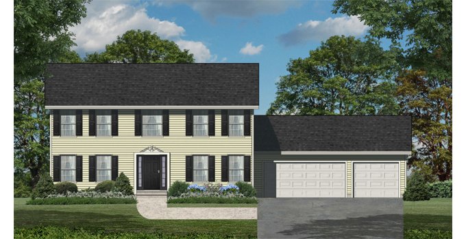 TJB Bethany Plan #197 Home Front Color Rendering