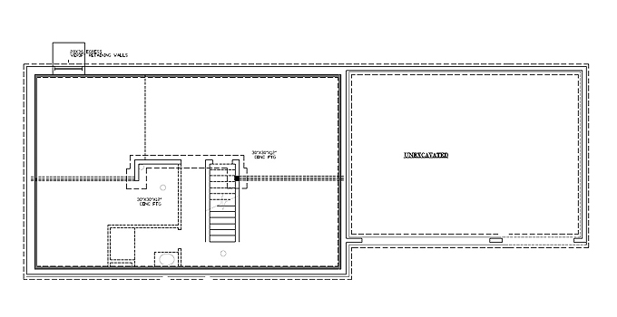 TJB Bethany Plan #197 Lower Level Floor Plan