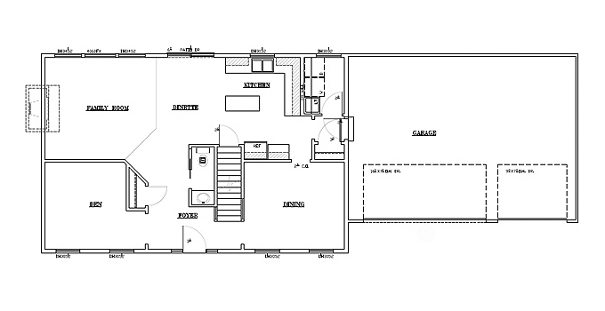 TJB Bethany Plan #197 Main Level Floor Plan