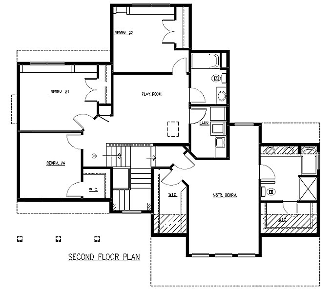 Nice TJB Emma Plan #212 Upper Level Floor Plan