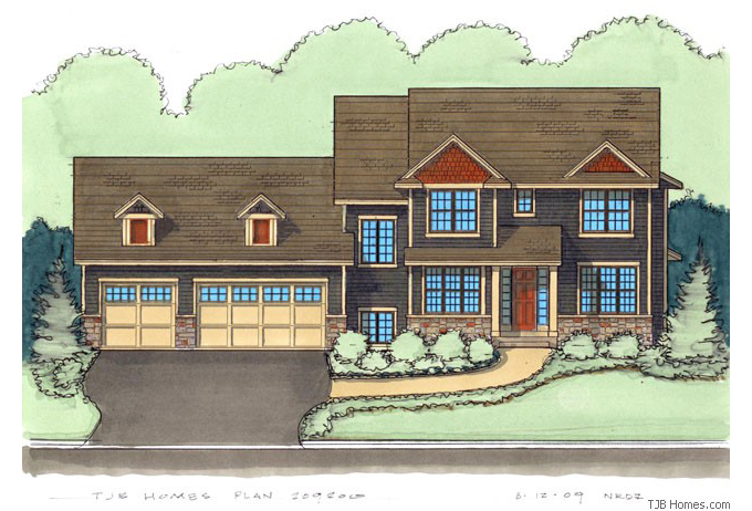 TJB Erica Plan #209200 Home Front