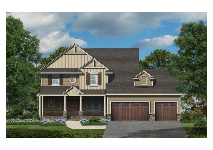 TJB Jamie Plan #133 Home Front Color Rendering
