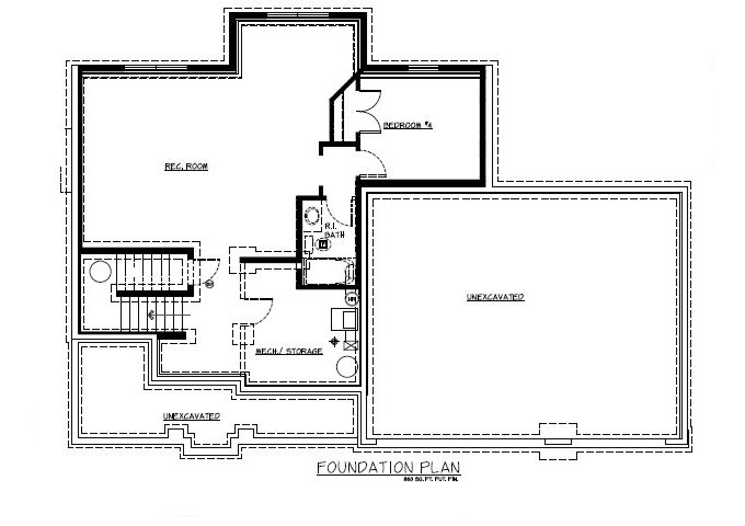 TJB Jamie Plan #133 Lower Level Floor Plan