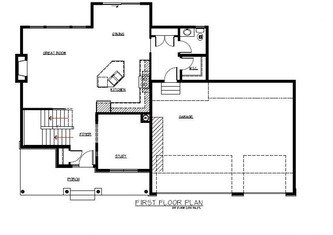 TJB Jamie Plan #133 Main Level Floor Plan