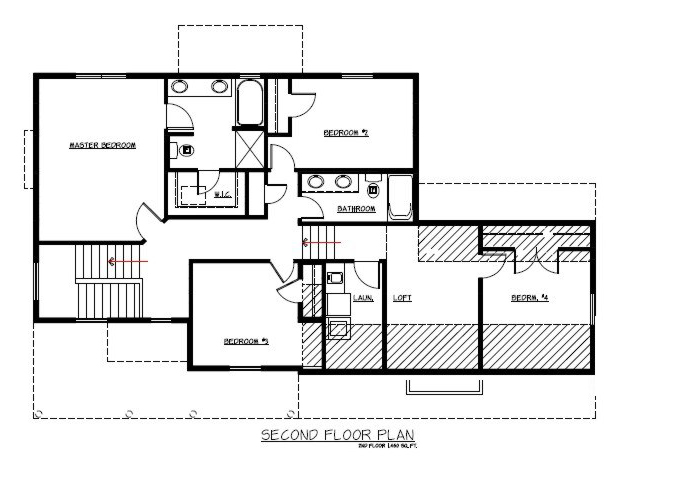 TJB Jamie Plan #133 Upper Level Floor Plan