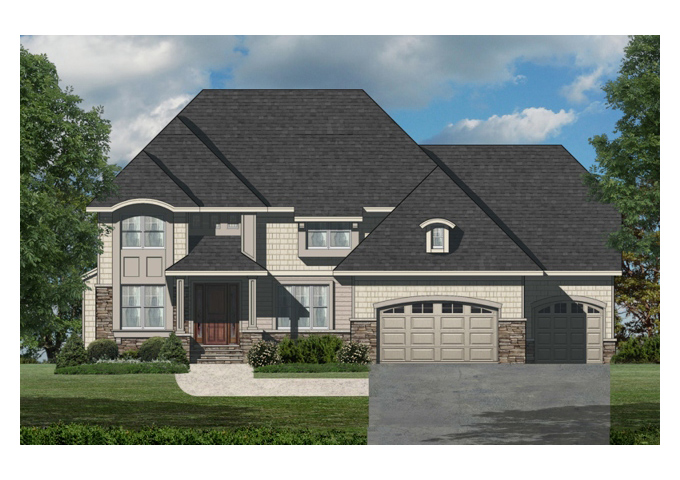TJB Marrissa Plan #196 Home Front Color Rendering