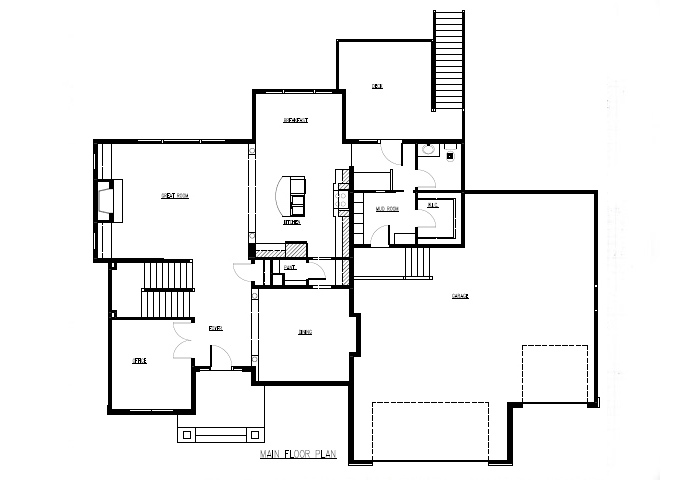TJB Marrissa Plan #196 Main Level Floor Plan