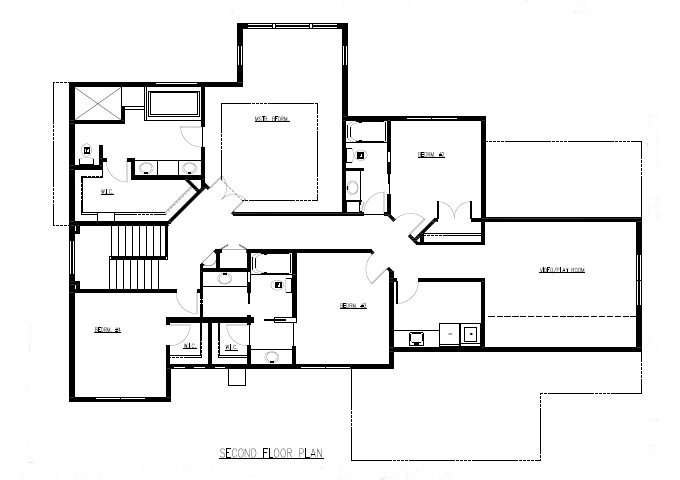 TJB Marrissa Plan #196 Upper Level Full Floor Plan