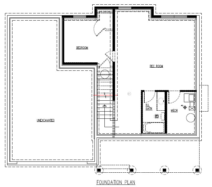 TJB Martha Plan #204 Lower Level Plan