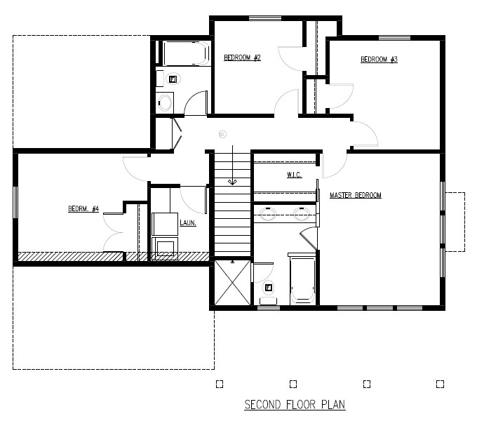 TJB Martha Plan #204 Upper Level Plan
