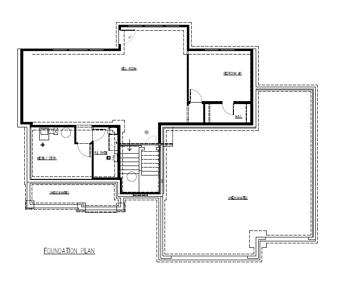 Molly Plan #182 Lower Level Plan