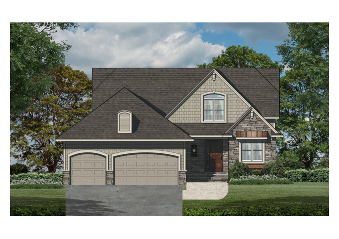 TJB Nina Marie Plan #21285 Home Front Option C Color