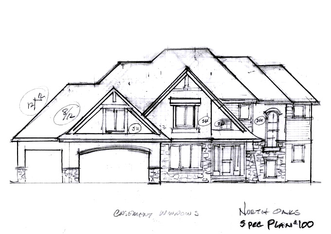 North Oaks Plan #100 Home Front