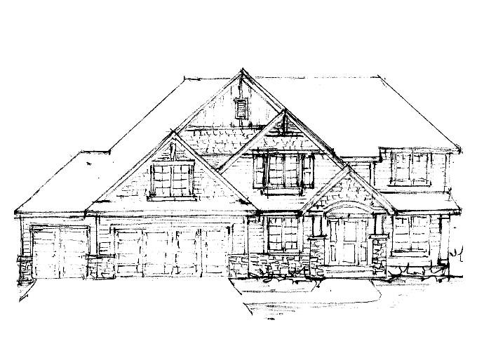 North Oaks Plan #200 Home Front