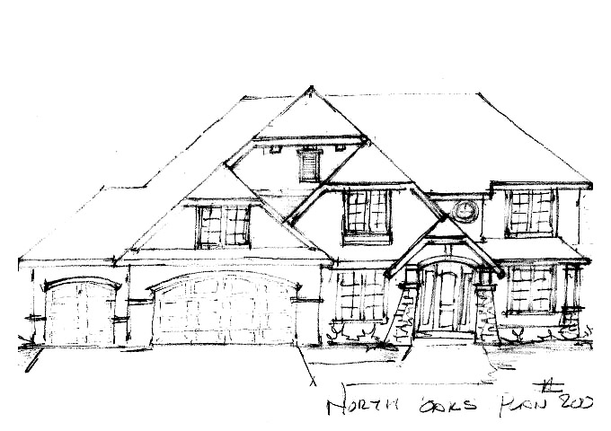 North Oaks Plan #200 Home Alternate Front