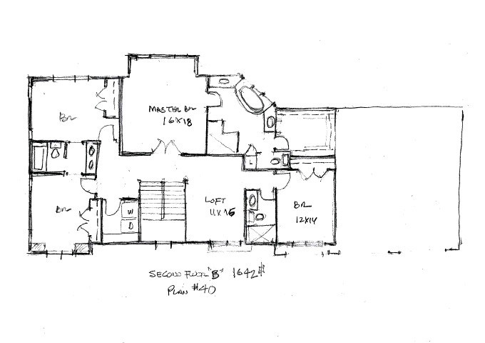 North Oaks Plan #40 Upper Level Plan Front
