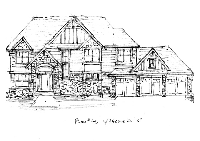 North Oaks Plan #40 Home Front
