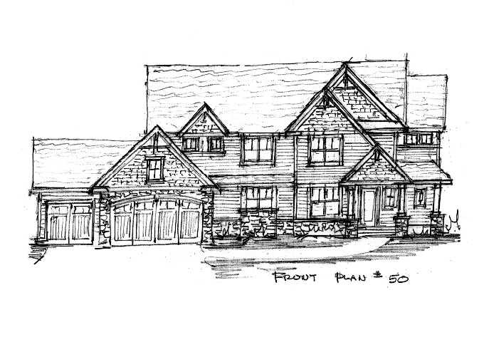 North Oaks Plan #50 Home Front