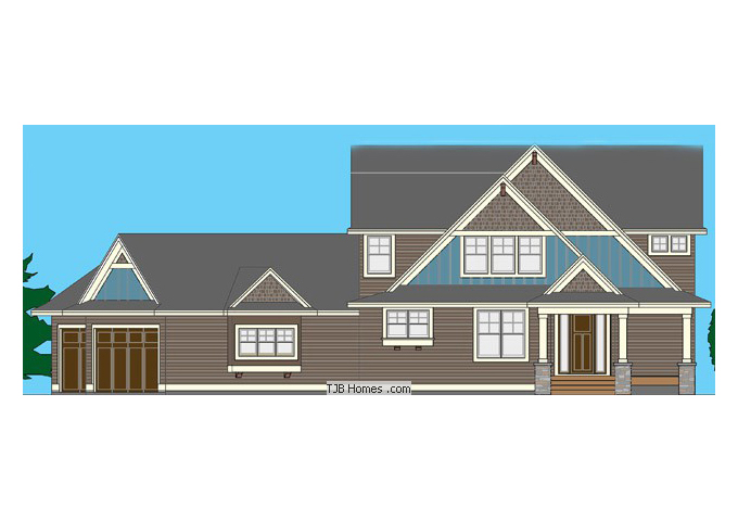 TJB Tapestry II Plan #T.B.D. Home Front Color Rendering
