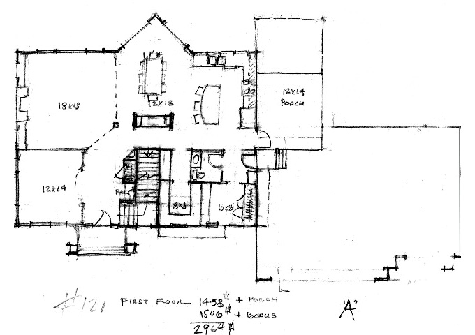 Plan #120 Main Level Plan