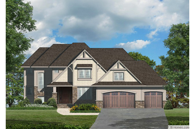 TJB Plan #201 Home Front Color Rendering