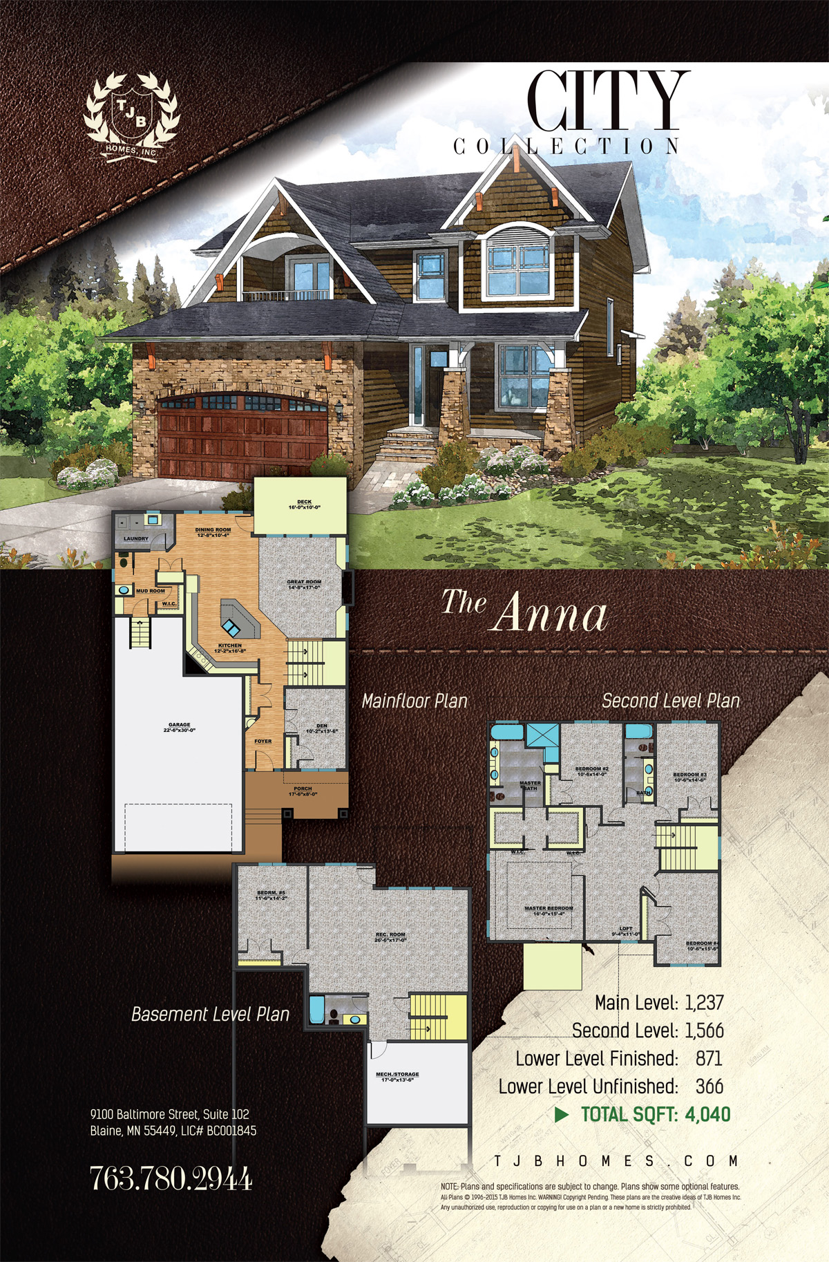 City Collection Home Plans - The Anna