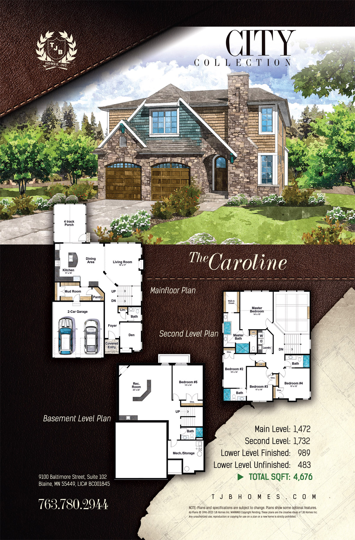 City Collection Home Plans - The Caroline