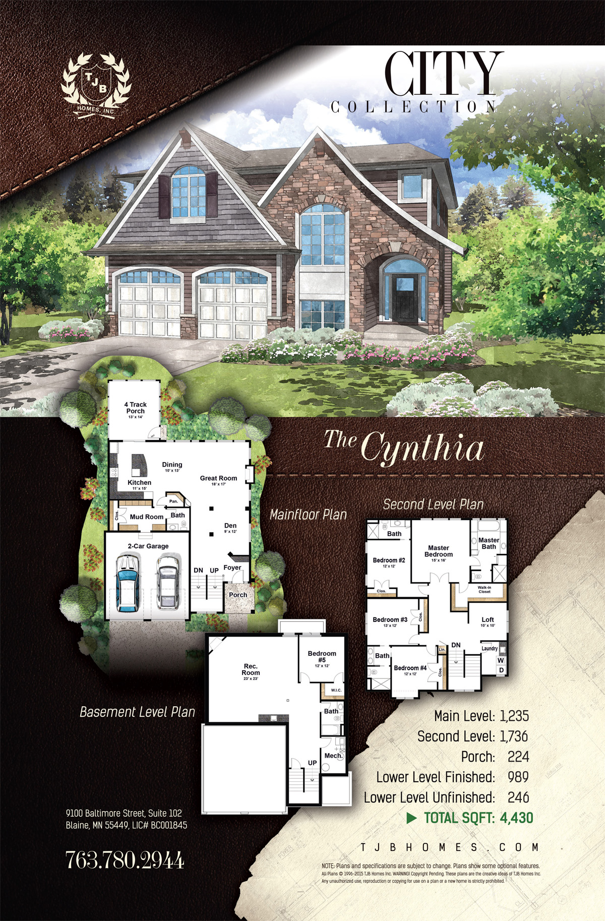 City Collection Home Plans - The Cynthia