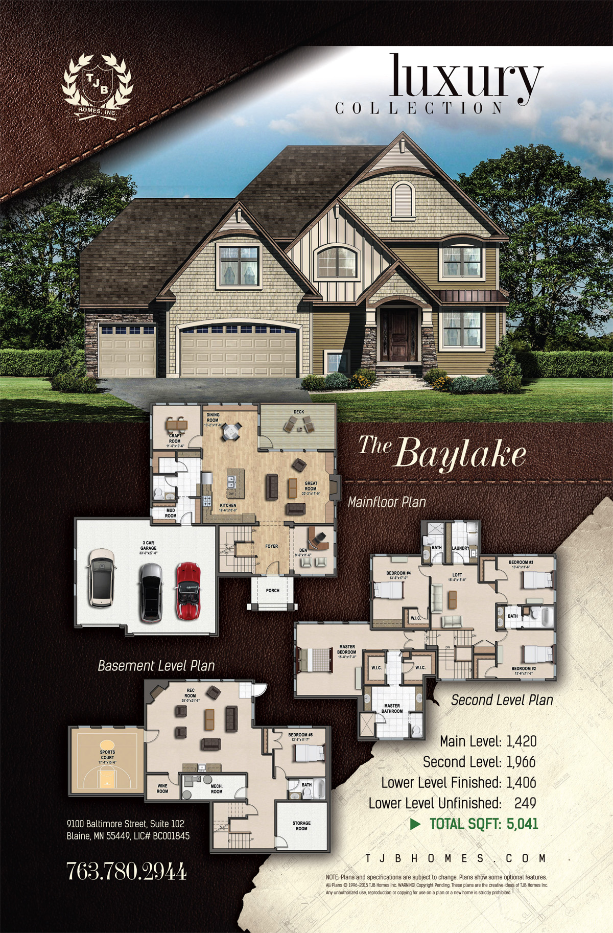 Luxury Collection Home Plans - The Baylake