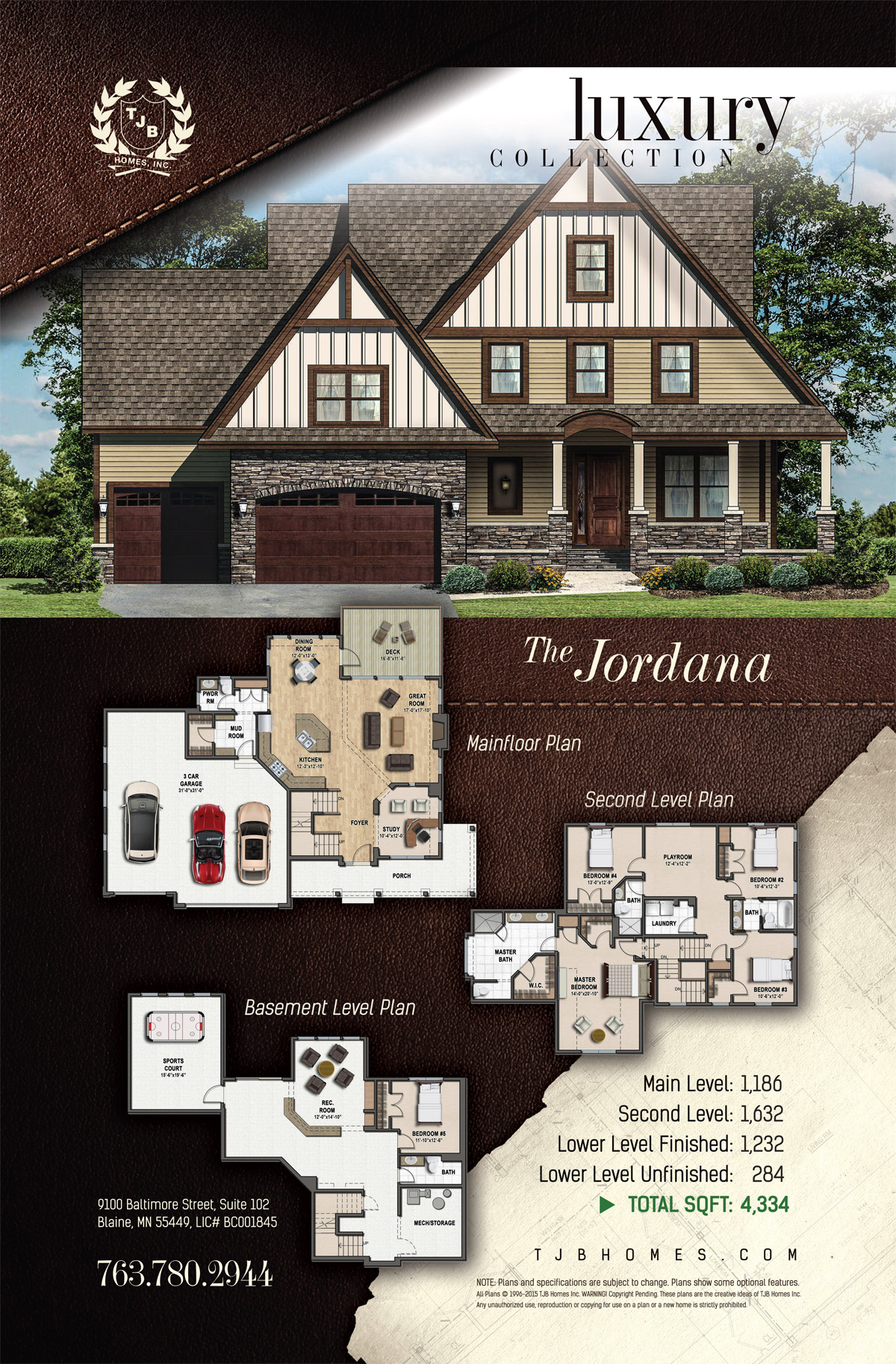 Luxury Collection Home Plans - The Jordana