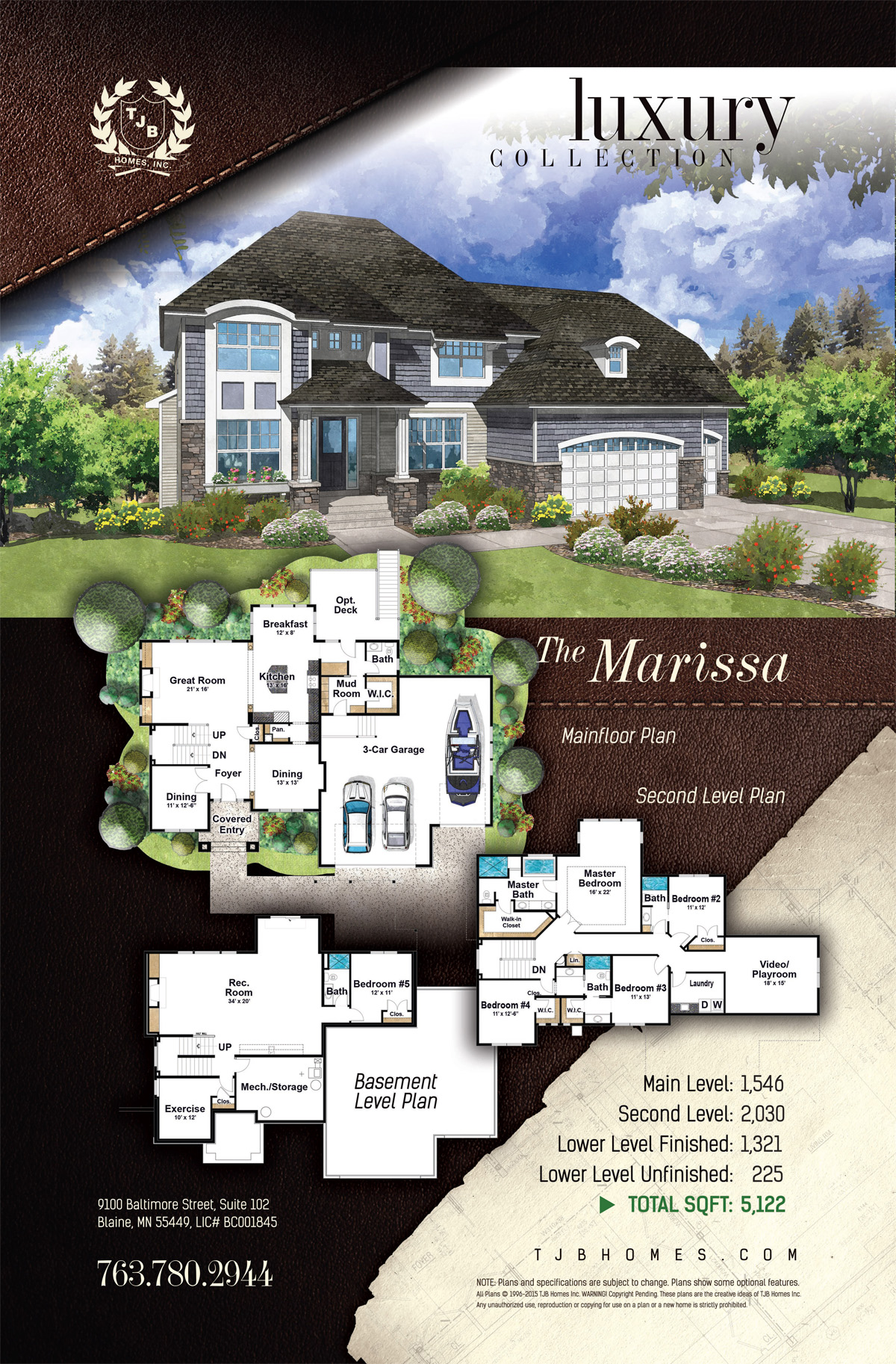 Gainesville Luxury Designer Home: The Marissa Floor Plan