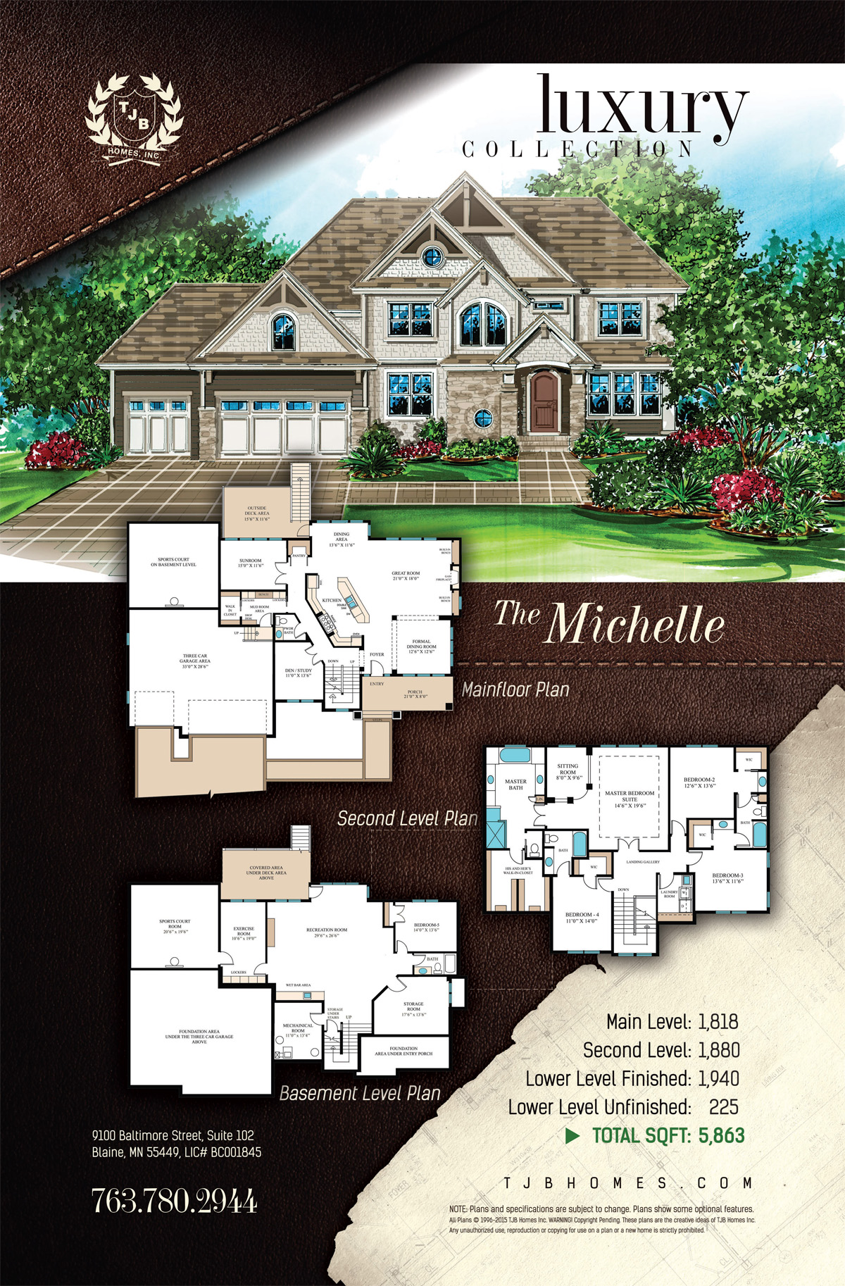 Luxury Collection Home Plans - The Michelle
