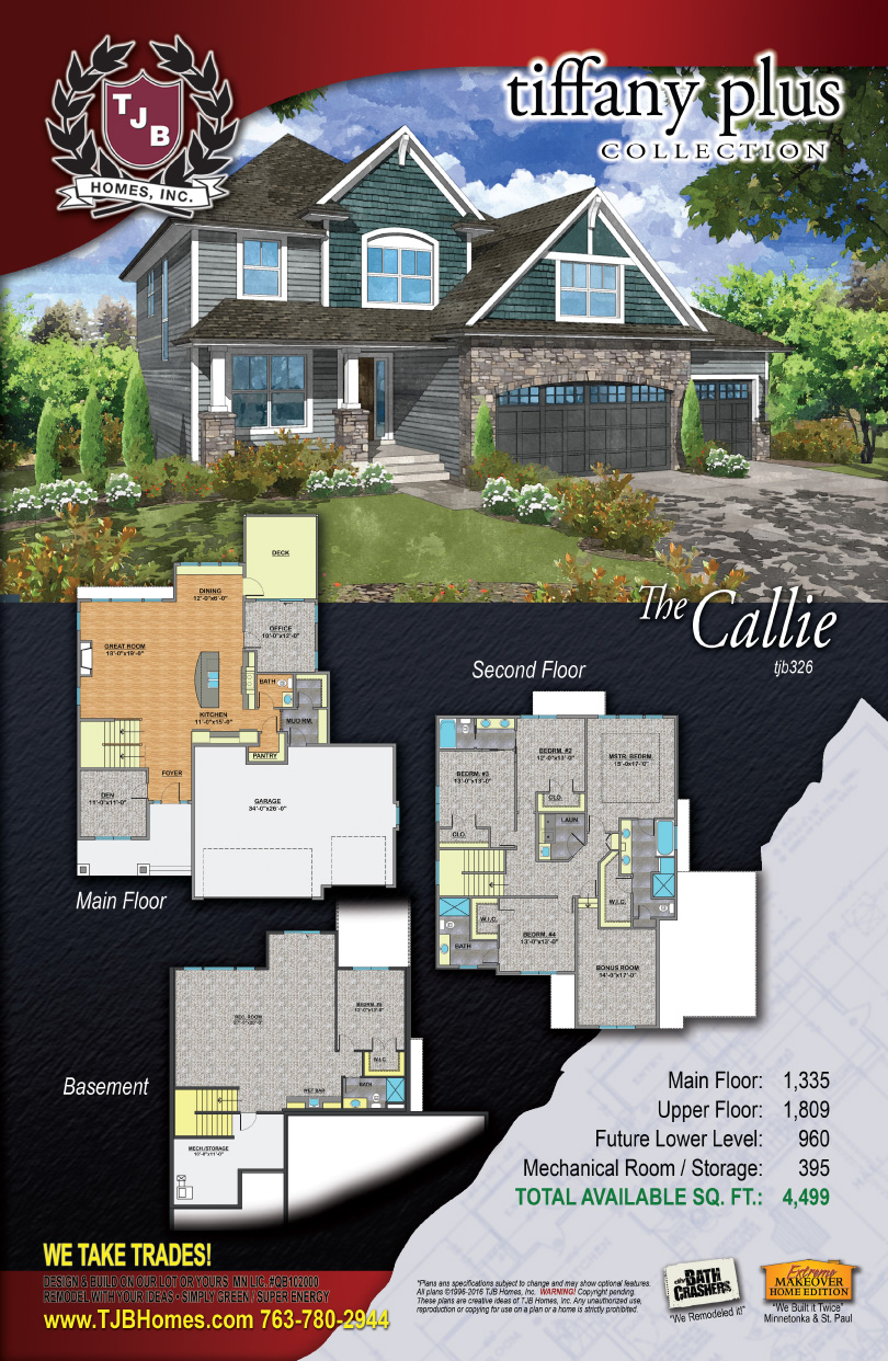 Tiffany Collection Home Plans - The Callie