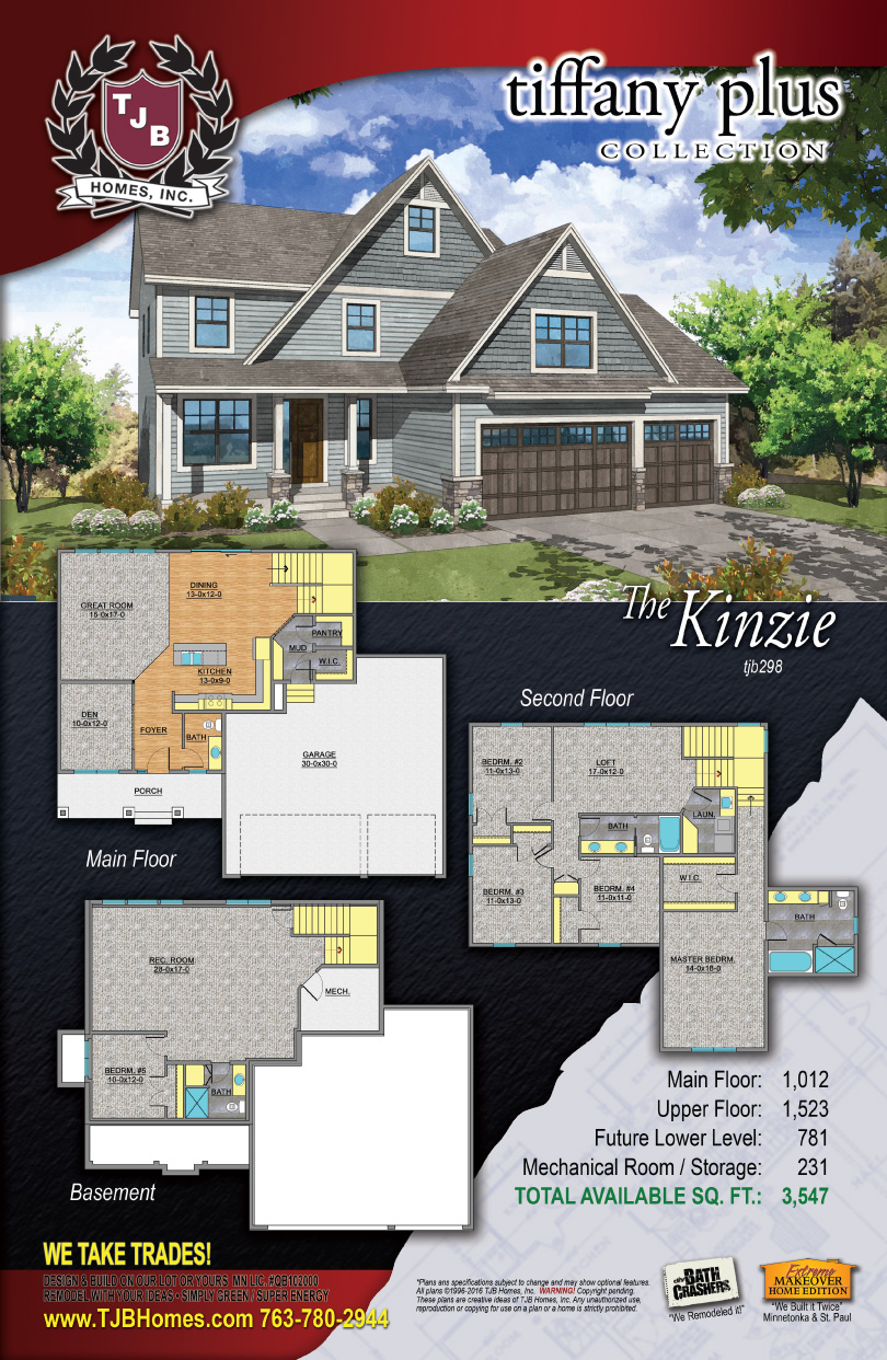 Tiffany Plus Collection Home Plans - The Kinzie