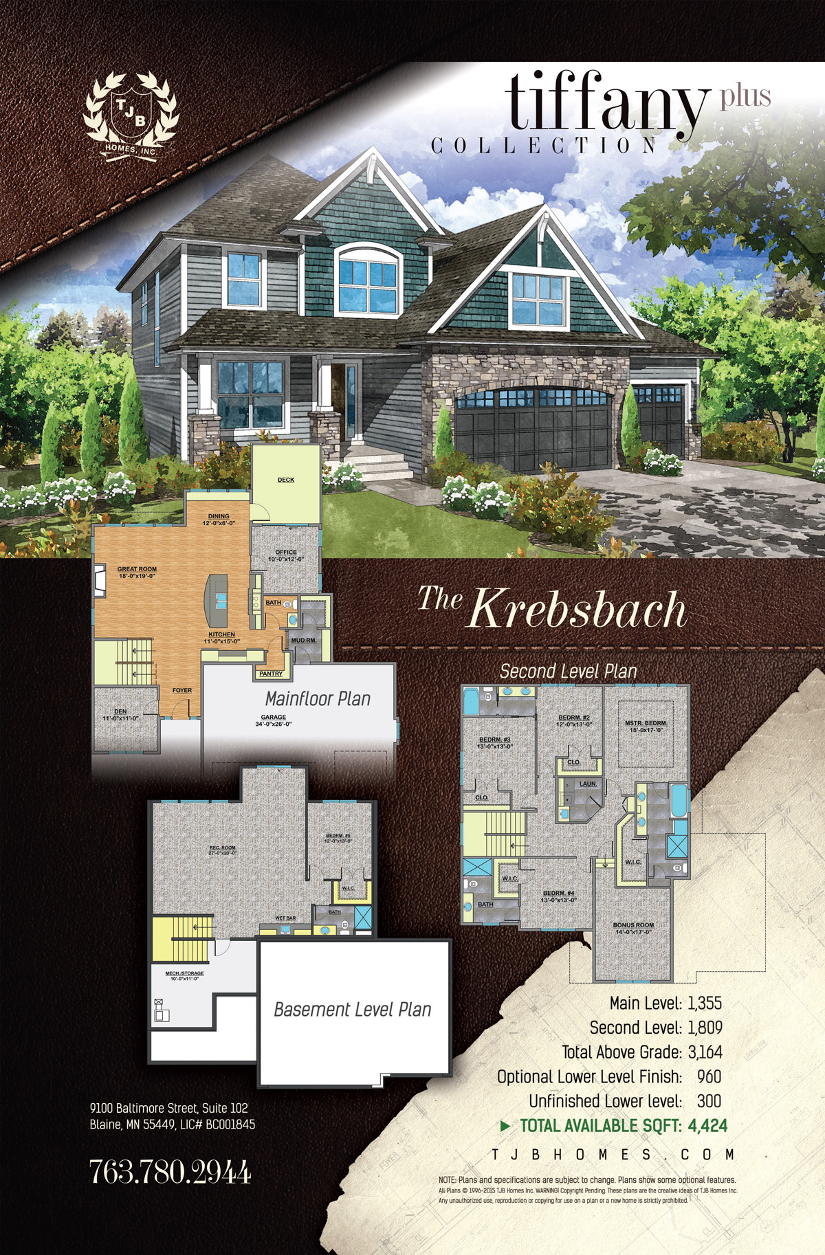 Tiffany Plus Collection Home Plans - The Krebsbach