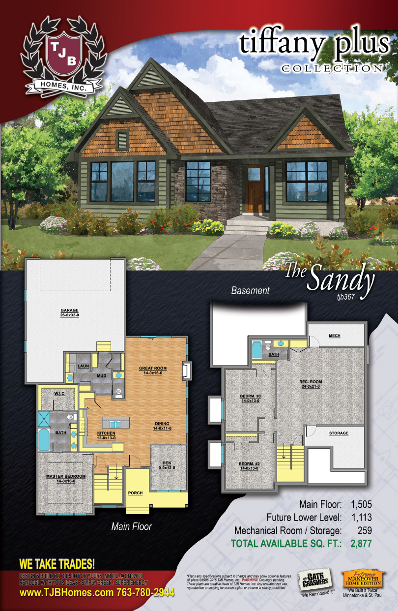 Tiffany Collection Home Plans - The Sandy