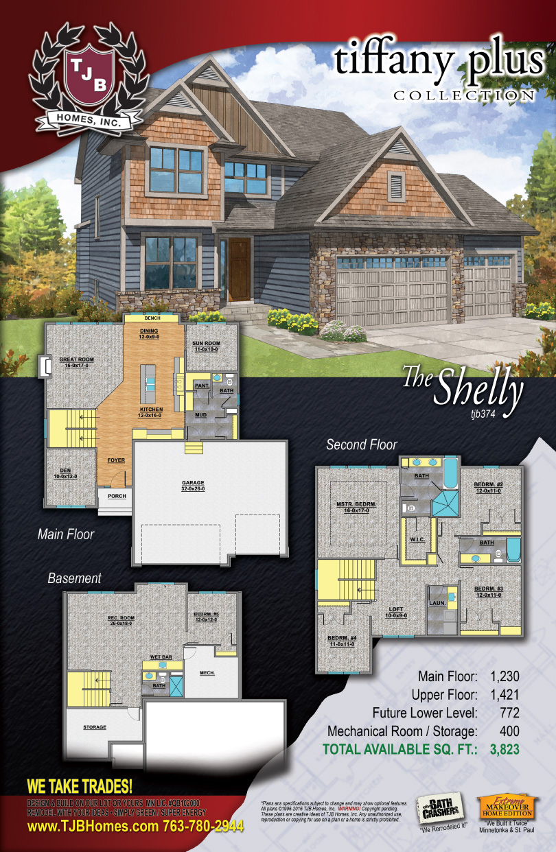 Tiffany Plus Collection Home Plans - The Shelly