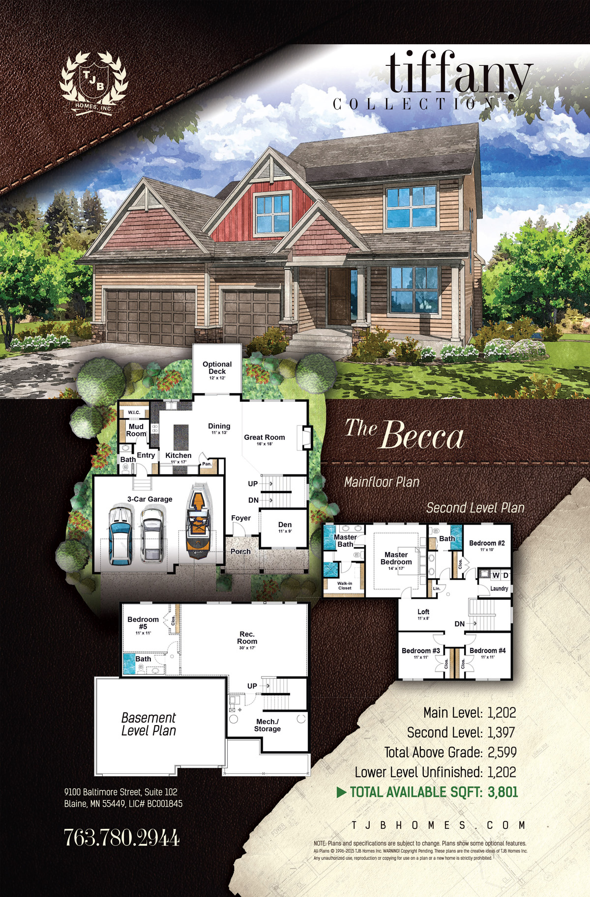 Tiffany Collection Home Plans - The Becca