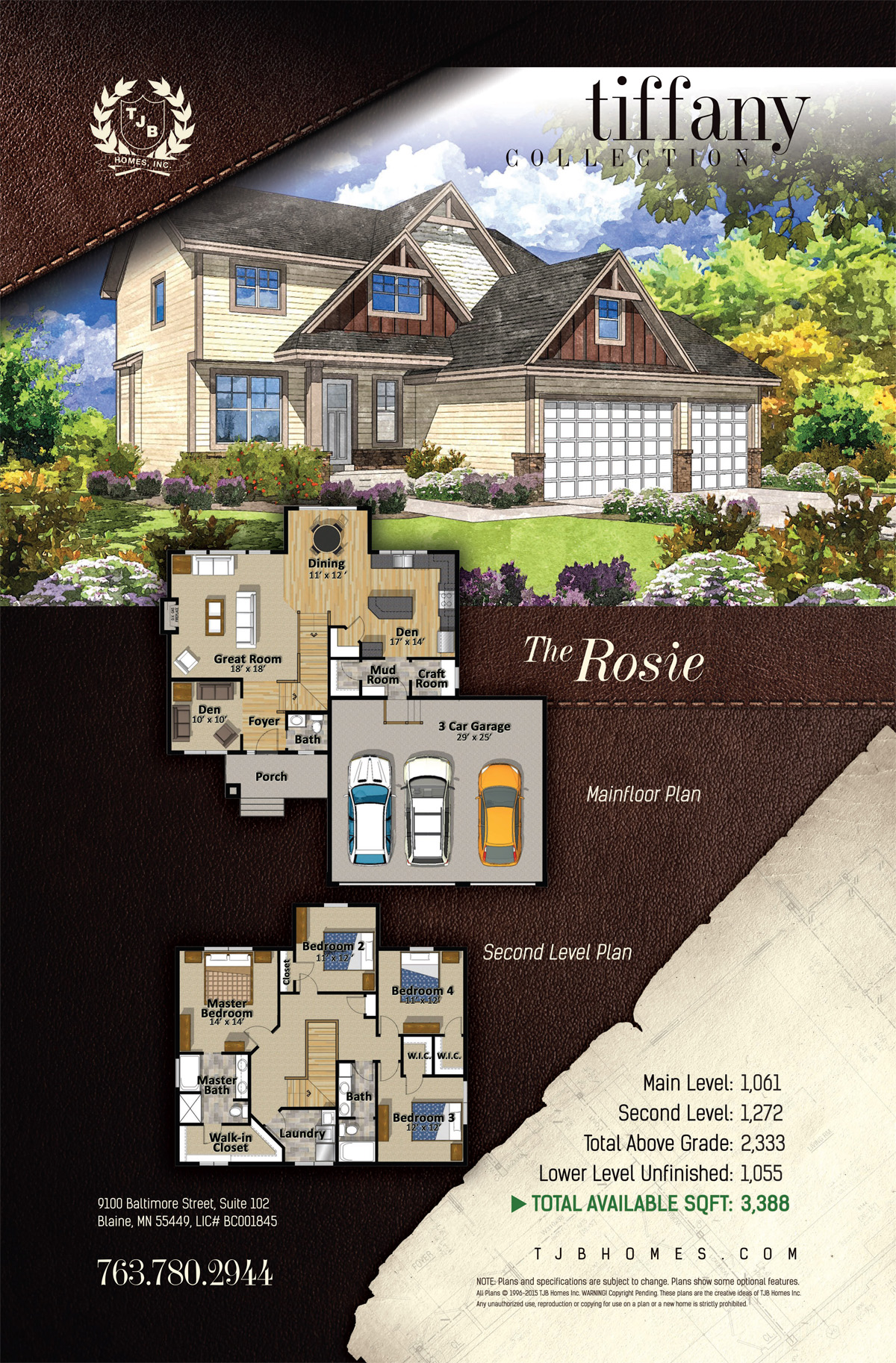 Tiffany Collection Home Plans - The Rosie